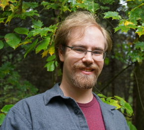 Epic fantasy author Josh VanBrakle visits Chittenango Falls in upstate New York
