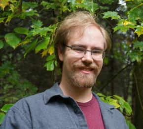 Epic fantasy author Josh VanBrakle visits Chittenango Falls in upstate New York
